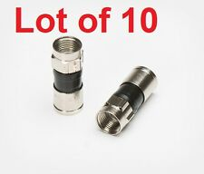 10 RG6 PPC EX6 Coax Cable Compression Male Connector Fittings CATV EX6PLUS Dish