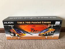Align T-Rex Trex 700 700E Electric Painted Canopy in Yellow, Orange & Blue