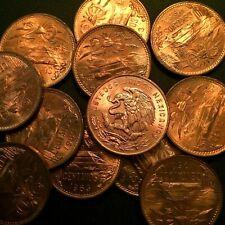 1963 🔥 Mexico 🌞 20 Centavo Bronze Coin ✨ UNC Cool Toning ✨KM 440 🦅 +Bonus !