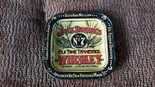 Jack Daniels  alter viereckiger Aschenbecher aus den USA  Blech Sammler