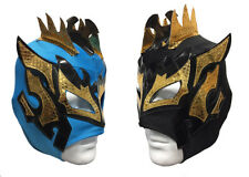 2 pack KALISTO YOUTH KIDS Wrestling Mask Lucha Libre Mask Party Pack BLUE/BLACK