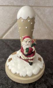 Brown Bag Cookie Art Stamp Christmas Eve #24 Santa w Sack of Toys Chimney 1997