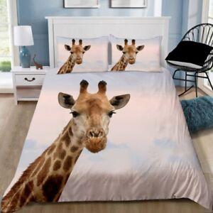 Giraffe Quilt Cover Set Pillowcase Single Double Queen King Size Bedding
