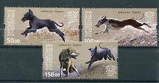 Kirghizistan KEP 2016 Gomma integra, non linguellato salbuurun tradizionale caccia taigans 3v Set cani FRANCOBOLLI