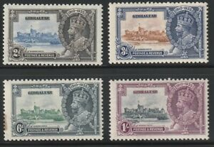 Gibraltar  1935   Sc # 125-28   Silver Jubilee   MLH   OG   (4017-1)