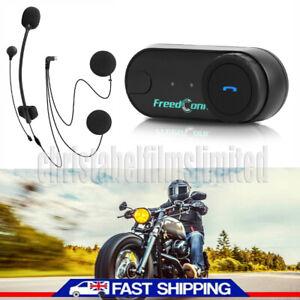 FreedConn TCOM-VB Motorcycle Helmet Intercom Bluetooth Headset Interphone FM UK