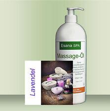 "Esana SPA Aroma-Massageöl ""Lavendel"" für Beauty & Wellness 1 Ltr mit Dosierpumpe"