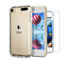 For iPod Touch 7th Gen Case Clear Slim Gel Cover & Glass Screen Protector