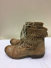 Nine West  distressed Brown man made materials Ankle perforated Boots SZ 7.5 M