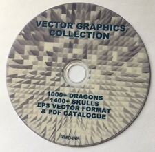 2400+ Dragon & Skull grafica immagini vettoriali VINILE PLOTTER CUTTER DVD i file EPS