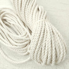 6 mm x 1 m HQ Natural White Pure Untreated Cotton Rope Bag Handle, Macrame Craft