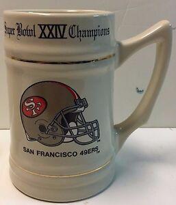 San Francisco 49ers Superbowl XXIV Champions Stein Mug Tankard NFL
