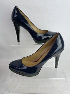 Nine West Women's UK6 Navy Heels Patent High Occasion RRP £95 'Rocha3' M895