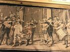 """HUGE 58"""" X20"""" WOVEN TAPESTRY MADE IN FRANCE Renaissance Hunting?"""