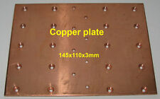 Copper plate Size 145x110x3mm for MOSFET 4x MRF150 BLF177 als-600 amplifier