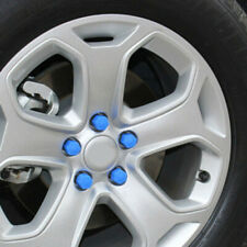 Car Truck Wheel Tyre Centre Hub Screw Lug Bolt Blue Rubber Caps Combo 19mm 20x