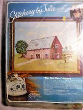 Paragon Vintage 1975, The Red Barn  Needlecraft Still Sealed Crewel Kit Sewing