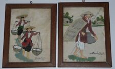 ANTIQUE PAINTINGS ON SILK JAPANESE OR CHINESE SIGNED BUCH-SON ? ORIGINAL