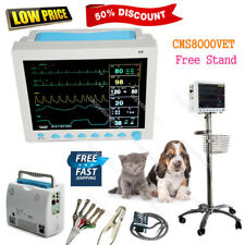 US Fedex CMS8000VET Veterinary Patient Monitor Multiparameter ICU +Free stand