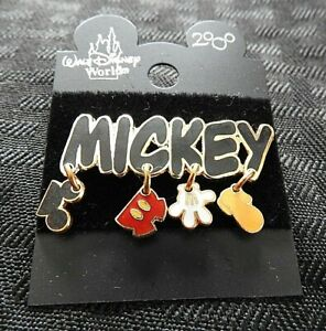 "Walt Disney World 2000 LE MICKEY MOUSE ""MICKEY MOUSE CHARM PENDANT"" PIN MINT"