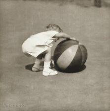 "1927/56 Vintage Josef Sudek Child Beach Ball Games ""Hra"" Original Photo Gravure"
