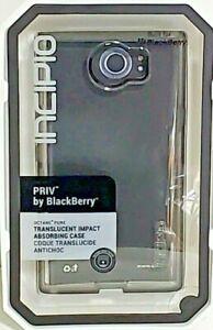 Incipio Octane Pure Blackberry PRIV Impact Absorbing Case Translucent Gray New