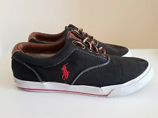 Ralph Lauren Vaughn Canvas soft boat deck summer shoe size UK 10 ref5P17 Black
