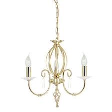 Elstead Lighting Aegean 3 Lumières Chandelier plafonnier Ajustement laiton poli
