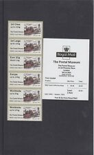 GB 2017  Post & Go Postal Museum no logo Stagecoach Collectors Strip mint