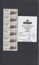 GB 2016  Post & Go Postal Museum no logo Stagecoach Collectors Strip mint