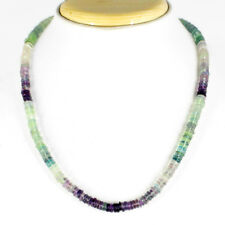 ATTRACTIVE 267.50 CTS NATURAL AAA UNTREATED RICH MULTICOLOR FLUORITE NECKLACE GE