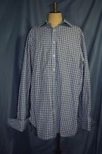 "Thomas Pink Men's 16 x 36.5"" Large French cuff Dress Shirt Grid"