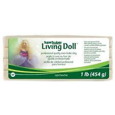 Light Beige - Super Sculpey Living Doll - Oven-bake doll making clay 1lb (454g)