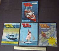 1962 Vintage Model Maker Magazine x 4. Ships Cars Yachts Adverts Engineering #8