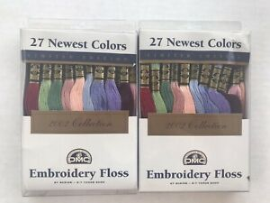 Lot of 2 Boxes DMC 2002 Collection 27 Skeins X 2 = 54 Embroidery Floss Thread
