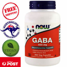 Now Foods GABA 500 mg 200 Vegan Capsules With Vitamin B-6, Non-GMO