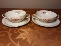 Eschenbach Baronet China - Vintage 1950s Lorna - set of 2 flat cups and saucers