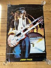Extremely Rare Jimmy Page Nazi Hat Rock Poster 1977 Made In London