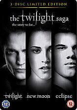 Twilight Saga Triple - Twilight / New Moon / Eclipse (DVD, 2010, 3-Disc Set)