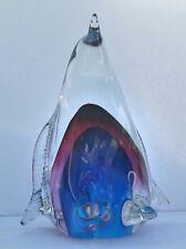 Italian Murano Crystal Blue Penguin Paperweight Italy