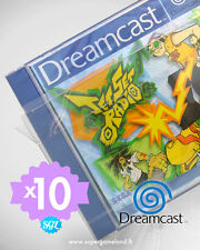 10 BOITIERS PROTECTION PROTECTIVE CASE (SUREMBALLAGE) DREAMCAST DC 0,4 mm NEUFS