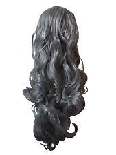 Nouveau long gris femme perruque glamour gothique vampire cosplay costume fancy dress bnwt