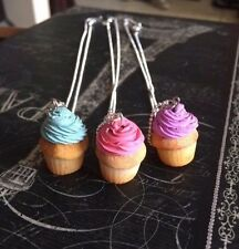 Handcrafted Scented Frosted Vanilla Cupcakes Pendant Necklace *polymer clay*