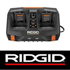 NEW RIDGID GEN5X 18 V DUAL PORT SEQUENTIAL CHARGER WITH DUAL USB PORTS -AC840094