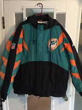 VTG 90s Miami Dolphins NFL Pro Line Apex One Puffy Jacket Size XL
