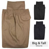 Big & Tall Men's Falcon Bay Casual Twill Pants FULL ELASTIC Waist Sizes 42 - 70