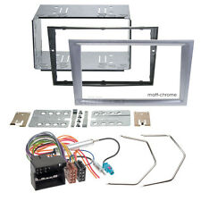 OPEL TIGRA TWIN TOP 04-09 2-DIN CAR RADIO INSTALLATION SET FACEPLATE Matt Chrome