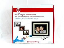HP 8 inch Digital Picture Frame Solid Wood Frame with 4 Mats DF820B4