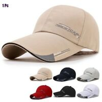 Mens Wommen Loop Plain Baseball Cap Solid Color Blank Curved Visor Hat Ball Army