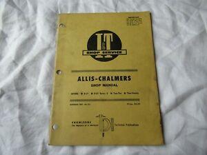 1971 Allis-Chalmers D21 D-21 series II 210 220 tractor service shop manual